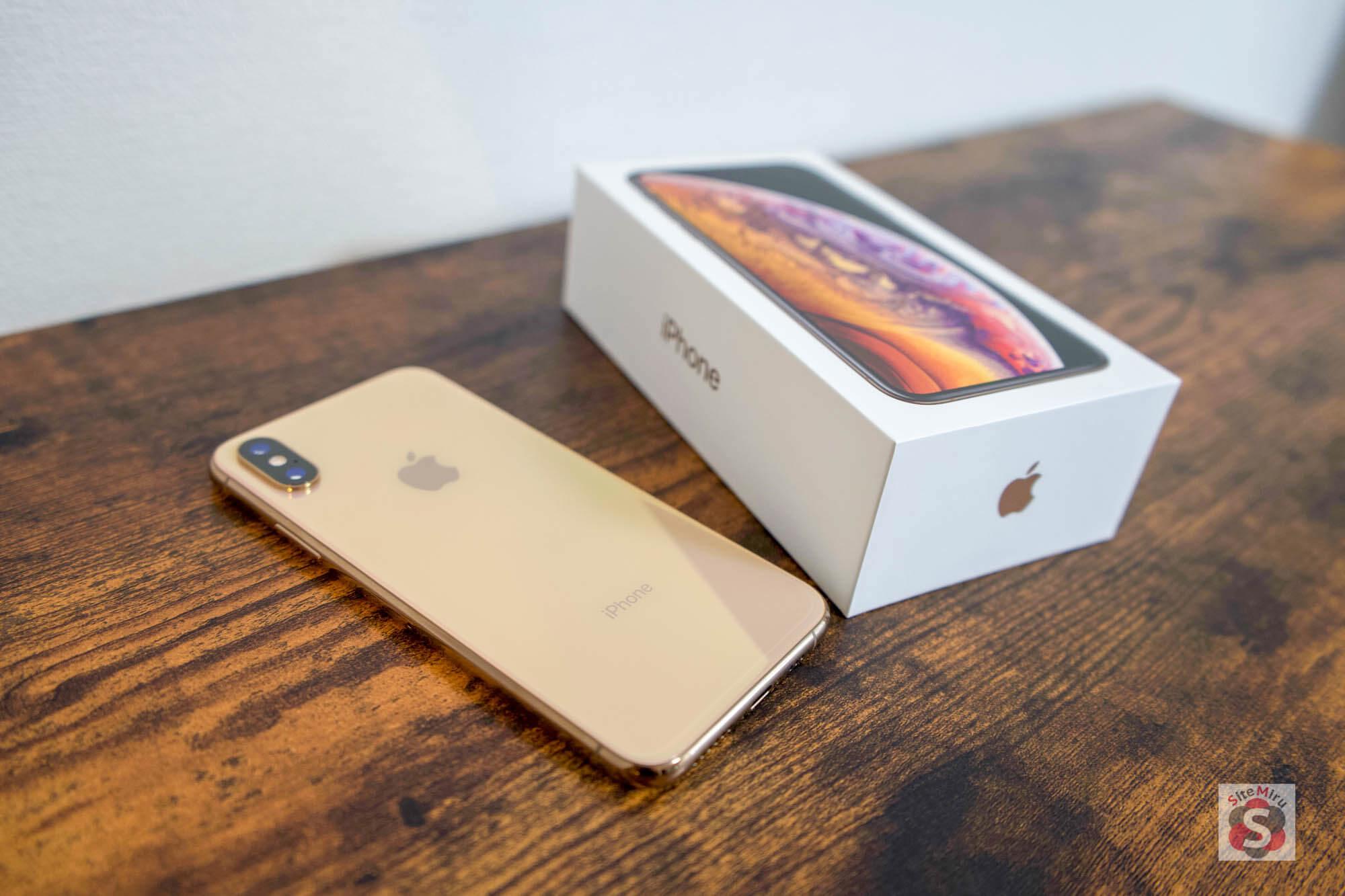 iPhone XSとパッケージ