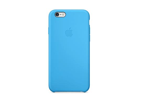 iPhone 6シリコンケース - ブルー&シルバー後ろ