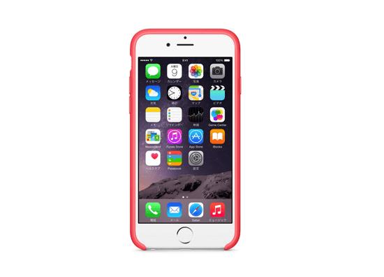 iPhone 6シリコンケース - ピンク&ゴールド前