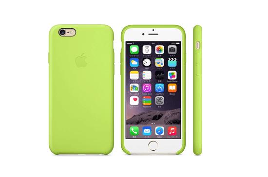 iPhone 6シリコンケース - グリーン&ゴールド