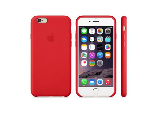 iPhone 6レザーケース - (PRODUCT)RED&ゴールド