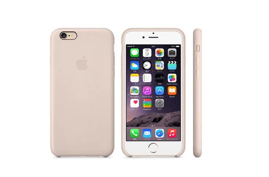 iPhone 6レザーケース - ソフトピンク&ゴールド
