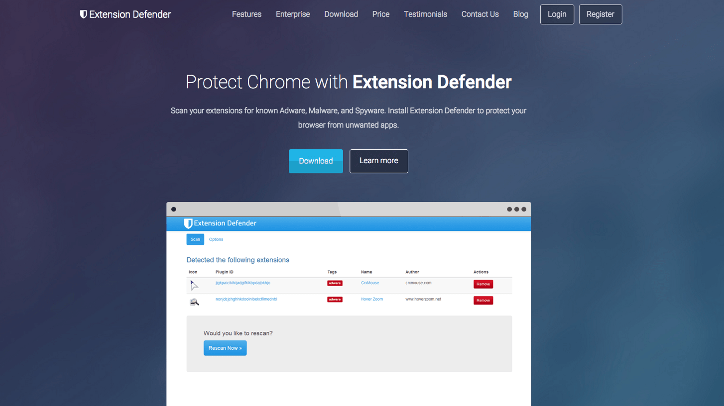chrome-extension-defender