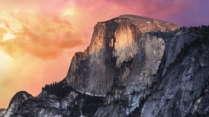 【OS X Yosemite(ヨセミテ)】の壁紙をMacBook Airに入れてみる!